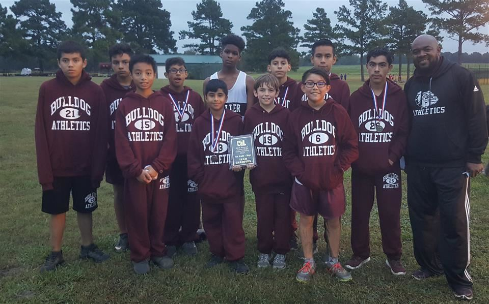 WJH 7th Grade boys X-Country Team