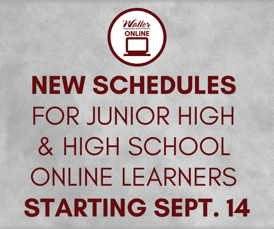 New Schedules for Secondary Online Learners
