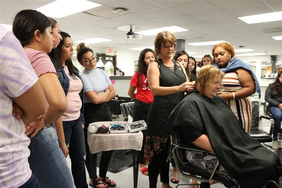 Photo of WHS Cosmetology Class