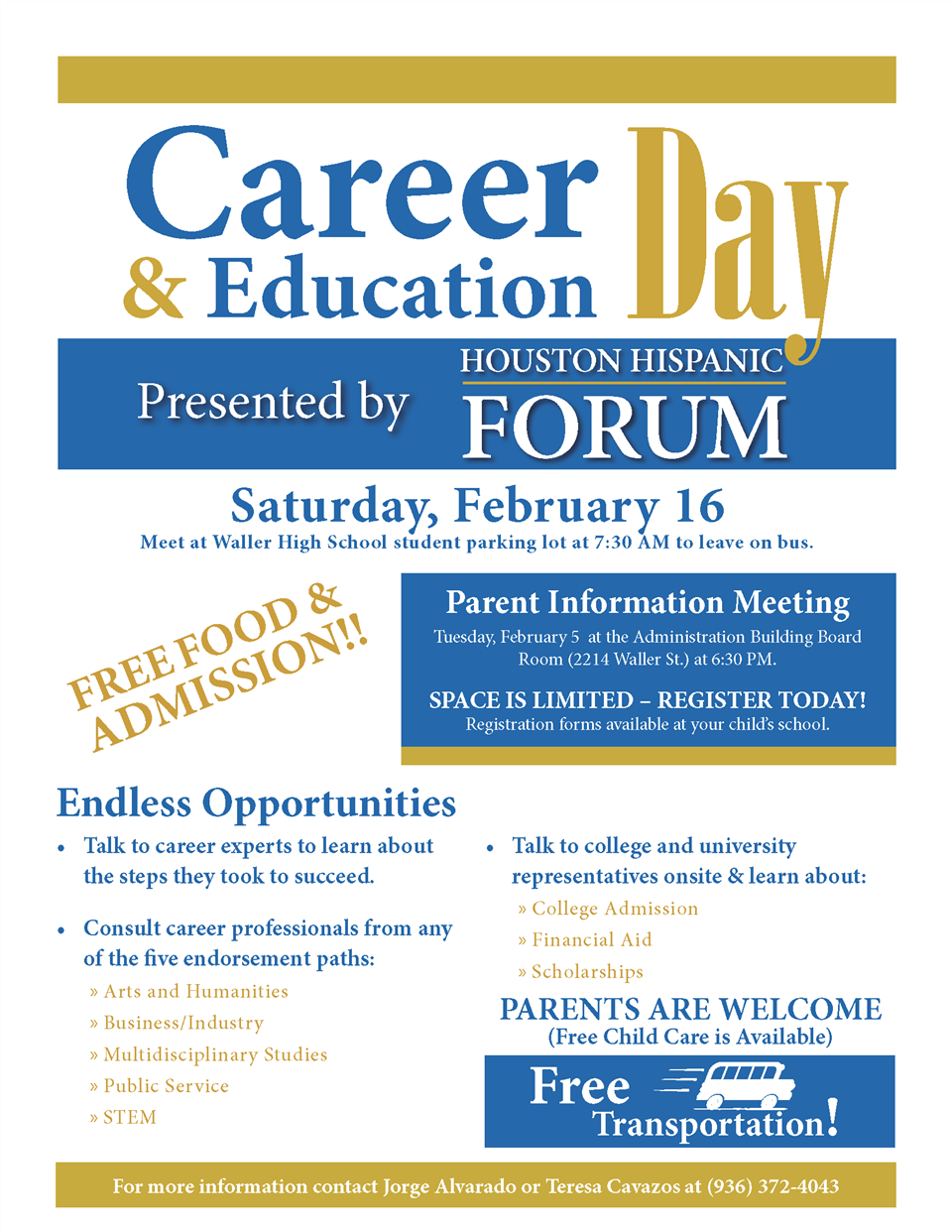 Career and Education Day Flyer
