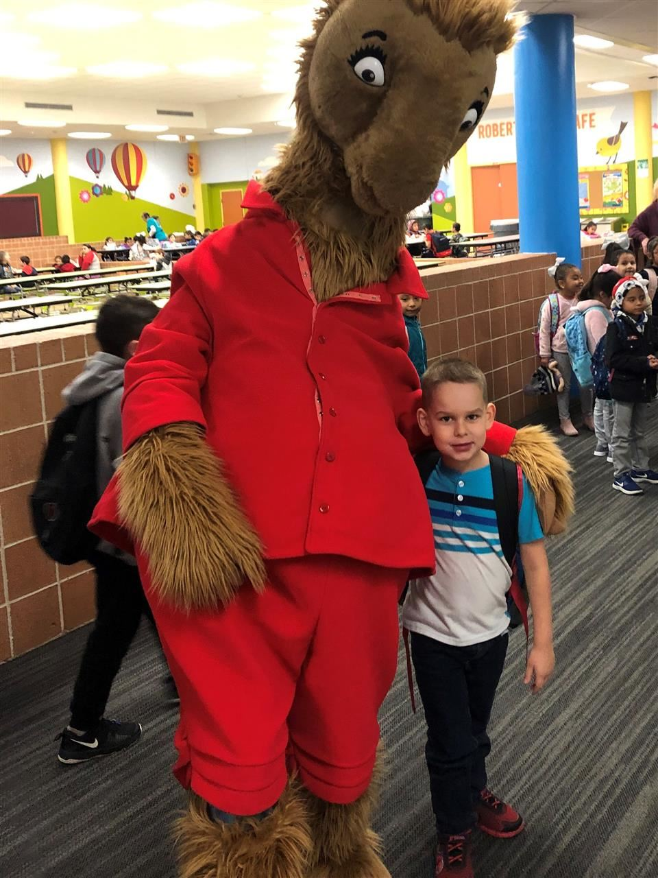Photo of character costume at Roberts Road Elementary