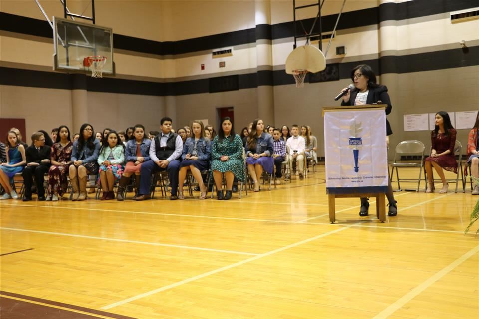 Photo of SJH National Junior Honor Society Induction