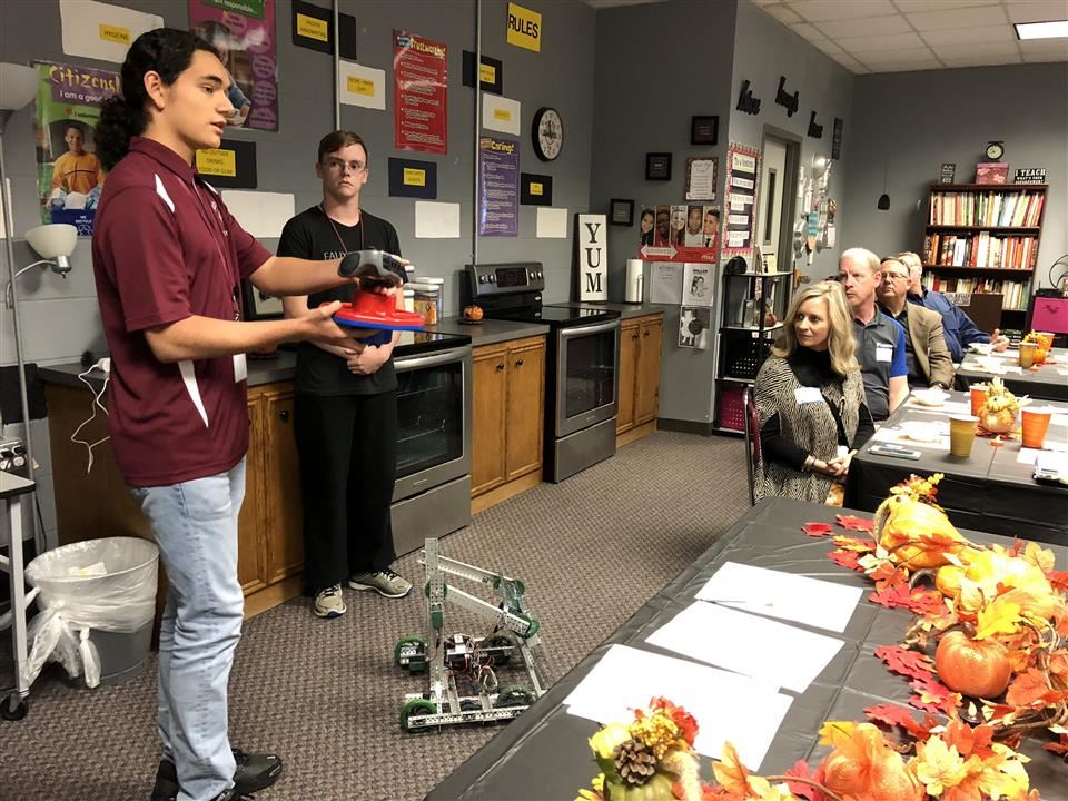 Photo of Waller High School Robotics students